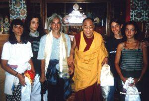 Giulio col Dalai Lama
